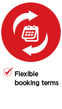 Flexible booking terms